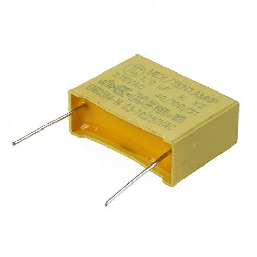 Condensador - SODIAL(R) 10pzs AC 275V 1uF Condensador de seguridad de pelicula...