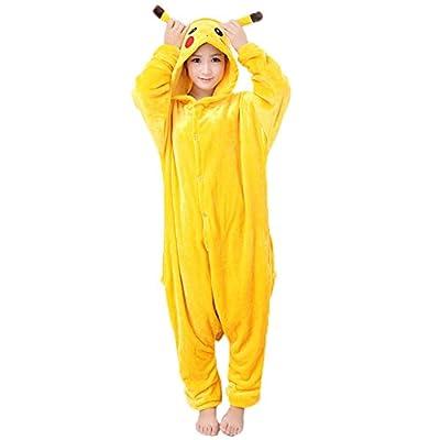 JunYito Pijama Pikachu Animale Disfraz Stitch Traje Niños Niña Adulto Mujer Invierno Kigurumi Unicornio Cosplay Halloween y Navidad por JunYito