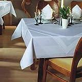 Mantel–Color Blanco–Rectangular–80x 80cm–Con Costuras Atlas borde–de algodón 100%–Ropa de mesa