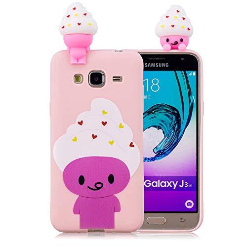Eis Gel Skin Schutzhülle (EarthNanLiuPowerTu Samsung Galaxy J3 2016 Hülle TPU-Gel-Silikonkautschuk-Schutzhülle aus weichem, ultradünnem Slim Fit handyhülle für Samsung Galaxy J310 | spürbar EIS | Shell Skin)