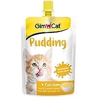 GimCat Pudin con Calcio para Gato, tentempié de auténtica Leche con Contenido reducido de lactosa para Huesos saludables, 1Bolsa (1x 150g)