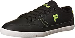 Fila Mens Vadro Black and Lime Sneakers - 10 UK/India (44 EU)