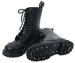 Knightsbridge 10-Loch Springerstiefel UK Gothic Style Boots Stiefel (42 / UK8)