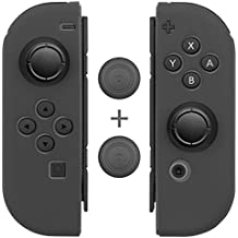 Nintendo Switch Joy-Con Controller Hülle Case Cover Schutz Gel Silikon[Daumen Griff Kappen](1 Paar/4 Stück) Fosmon Anti Rutsch L/R Daumenstock-Grau