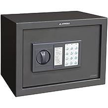 Arregui T25EB - Caja fuerte de sobreponer electrónica, 17L, 350x250x250 mm, Gris oscuro