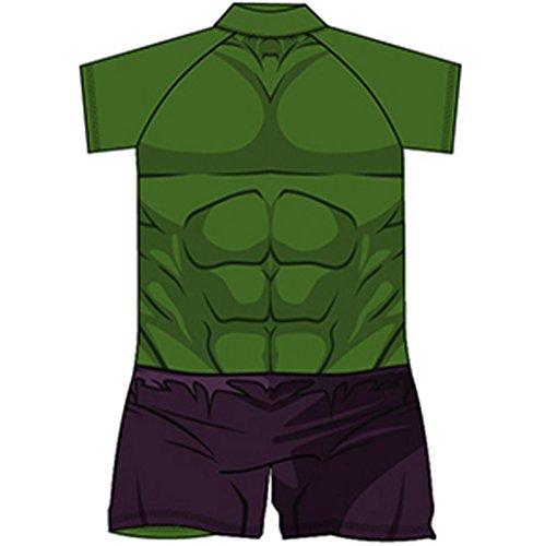 Kostüm Hulk Unglaubliche - Offiziell Lizenziert Marvel Unglaubliche Hulk Sunsafe Badeanzug / Surf-Anzug. (1.5/2 Jahre)
