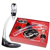 Oxford Street Deluxe Magio Decanter Aérateur de vin rouge Support &Oxygénateur...