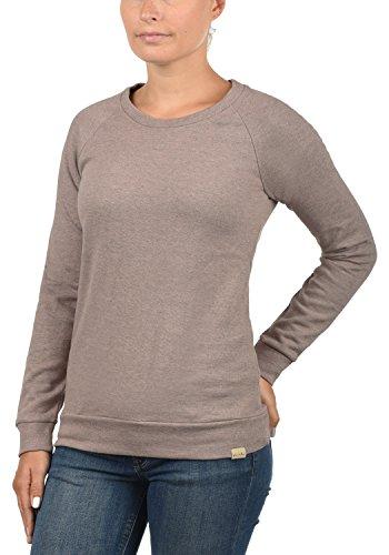 Blend She Kim Damen Sweatshirt Pullover Sweater Mit Rundhalsausschnitt, Größe:S, Farbe:Misty Rose Melange (20204) - 2