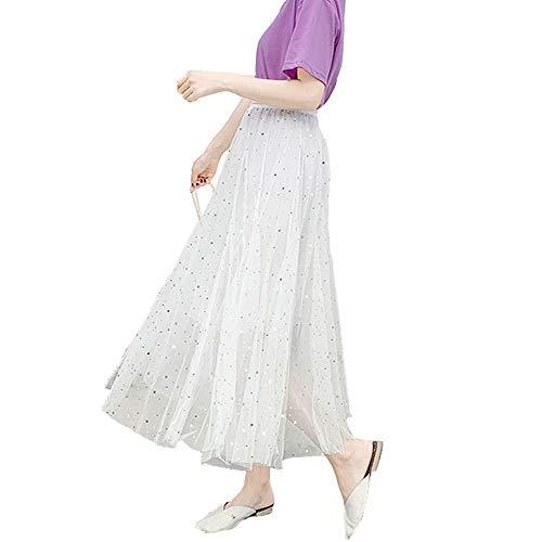 f9423ab5553ba2 Frauen Damen Tutu Mesh Röcke Pailletten Tüll Funkelnde Sterne Lange Röcke  Hohe Elastische Taille Gefaltete Maxi