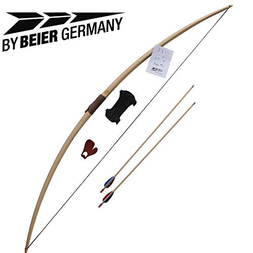 """by Beier Germany Langbogenset Marksman 68\"""" Farbe Natur"""
