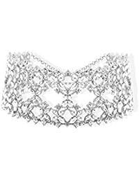 Bellofox Choker Necklace for Women (Silver)(BN1384)