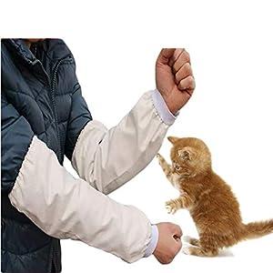 Aida Bz Anti-Cat Catch Manches Coton Anti-Morsure Toile épaisse et Longue résistant à l'usure des Manches Anti-Rayures