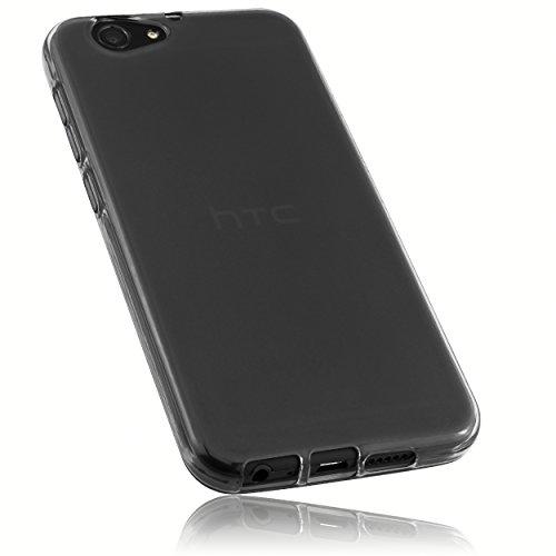 mumbi Schutzhülle für HTC ONE A9s Hülle transparent schwarz