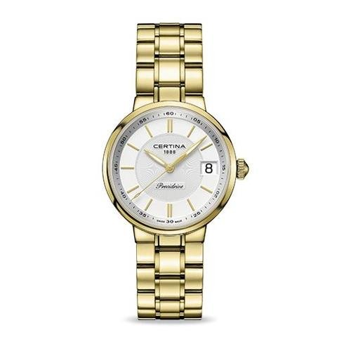 CERTINA C0312103303100 LADIES 43.5MM GOLD STEEL BRACELET & CASE DATE WATCH