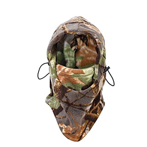 Outdoor Hunting Climbing Full Face Hood Head Protector Hat Woodland Camouflage