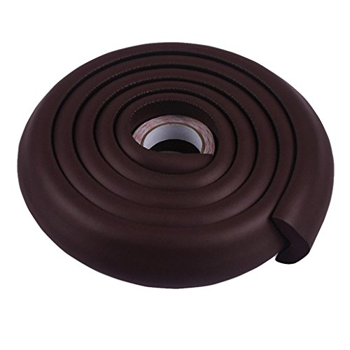 Magideal Baby Polyurethane Safety Table Edge Corner Cushion Guard Strip Bumper Protector (Coffee, RC_55009872) - Pack of 1