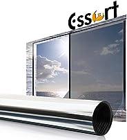 Essort Window Privacy Film, One Way Mirrored Film, Anti UV Sunscreen Sunblock Film, Self-Adhesive Heat Control