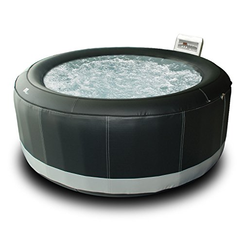 Spa rond simili-cuir gonflable SUPER CAMARO - 6 places - noir