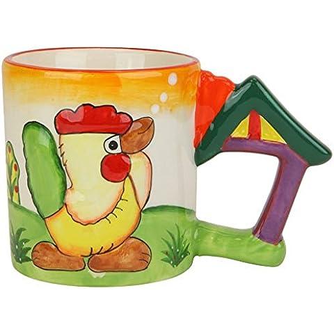 Brew ha ha colorido Animal taza de café. Pollo hace