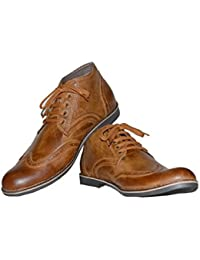 SHOE SMITH Men's Synthetic Leather Casual Shoes - B018VB3ZKQ