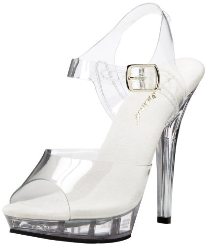 Pleaser Pleaser Lip-108 Damen Pumps, Damen Sandalen, Transparent (clear), 36 EU (3 UK)