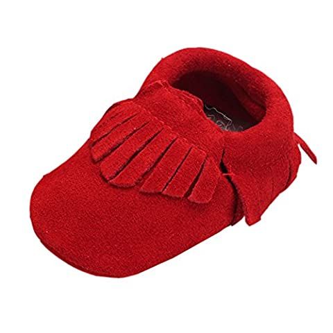 leap frog Moccasins Boots, Baby Mädchen Mokassins , Rot - rot - Größe: 18-24 Monate