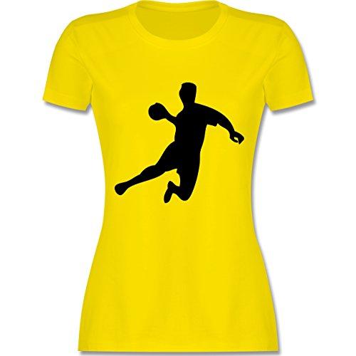 Handball - Handball - tailliertes Premium T-Shirt mit Rundhalsausschnitt für Damen Lemon Gelb