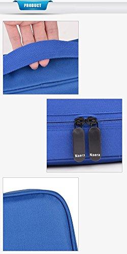 Kosmetiktasche AlfarTec Frauen-Kulturbeutel Große Kapazität Koreanische Art-Kulturbeutel-Tasche für Geschäfts-Reise-Verfassungs-Organisator-Beutel (Yellow) Purple