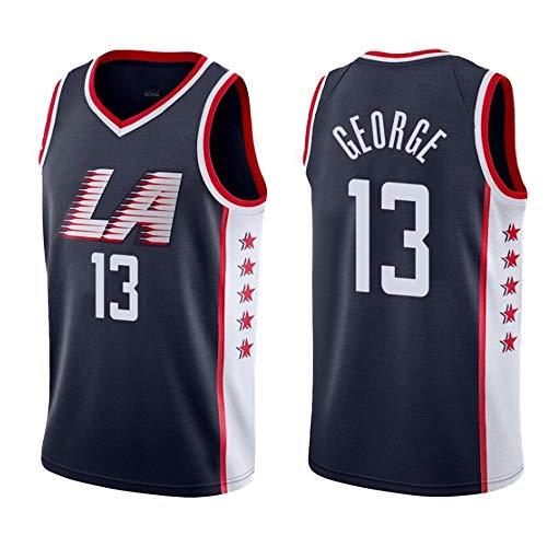 ZAIYI-Jersey (Paul George-13 Herren New Jersey Basketball -Unisex Jugend Ärmel Tops for Outdoor-Sport Wettkampfanzüge und Geschenke for Kind (Color : B, Size : S)