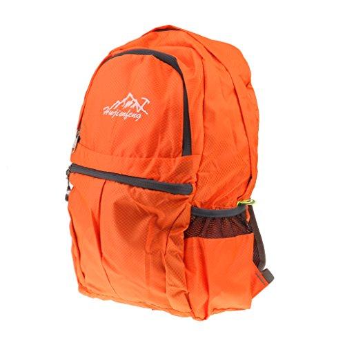 20L Borsa da Viaggio Zaino Trekking Arrampicata Campeggio Zainetto Pieghevole per Uomo Donne Ragazze - Grigio Arancione