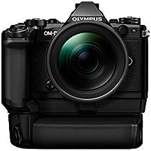 "Olympus OM-D E-M5 Mark II - Cámara EVIL de 16.1 Mp (pantalla 3"", estabilizador, vídeo Full HD), color negro / negro - Kit con objetivo Zuiko 12-40 mm 1:2.8, empuñadura HLD-8 y doble batería BLN-1"