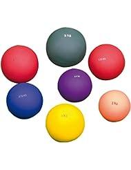 Central Atletismo plomo relleno PVC resistente a los golpes caso interior lanzamiento de peso bola sólo, 3.00kg