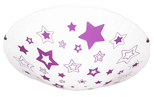 Plafoniere Bambini Cameretta : Plafoniera decoro stelline per camera cameretta bambini rosa