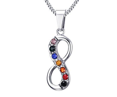 joielavie Schmuck Infinity Symbol Anhänger Halskette Ewigkeit