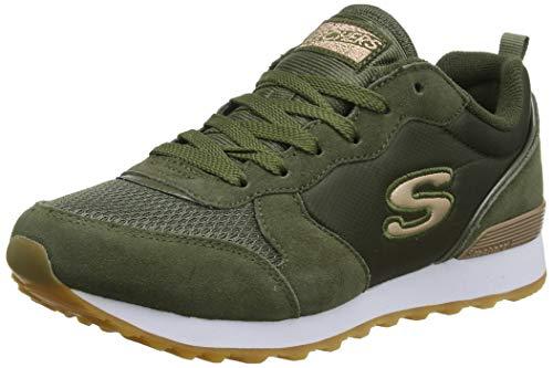Skechers Damen Retros-og 85-goldn Gurl Sneaker, (Olive Suede/Nylon/Mesh/Rose Gold Trim Old), 7 EU