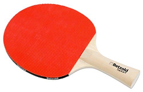 Betzold Sport Tischtennisschläger Flash, mit beidseitig außenliegenden Noppen und konkavem Griff - Tischtennis Spielen Kinder Zubehör Tisch-Tennis Schläger