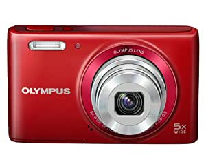 Olympus STYLUS VG-180 Digital Compact Camera - Red (16MP, 5x Wide Optical Zoom) 2.7 inch LCD