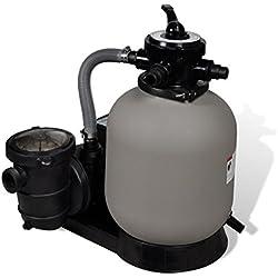 Festnight Filtre à Sable avec Pompe Accessoire de Piscine Pompe de Filtration 18000L/h
