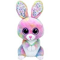 TY 37092–Glubschi 's Beanie Boo' s Bubby Conejo con ojos, 24cm, multicolor
