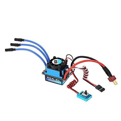 Goolsky 60A Sensorless Brushless 2-3S LiPo elettrico ESC regolatore di velocità per camion auto 1/10 (Regolatore Connettore)