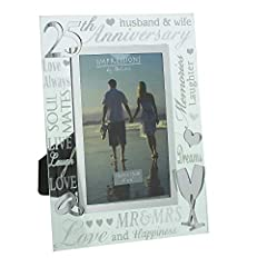 Idea Regalo - 25th Silver Wedding Anniversary Photo Frame New Boxed by ukgiftstoreonline