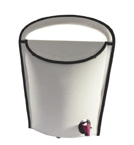 Tragbarer Weinkühler f. Weinschlauch grau 3L. ø130x335x385mm