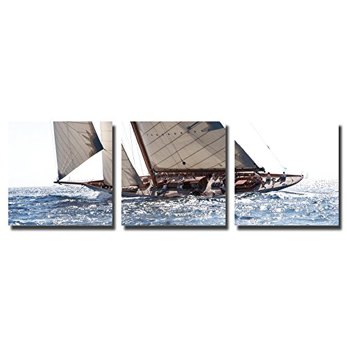 actua-concept tf176750cct Classic Yacht Leinwand Canvas, Mehrfarbig 55x 55x 12cm