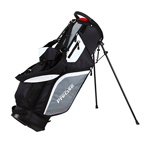 Precise-M5-Mens-Complete-Golf-Set-Includes-Titanium-Driver-SS-Fairway-SS-Hybrid-SS-5-PW-Irons-Putter-Stand-Bag-3-HCs-Right-Hand-Right