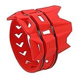 Cikuso Cubierta Silenciador Anillo Anti-Plancha de Moto Cubierta Protectora Anillo Aislante Adecuado para Todoterreno Buggy Piezas (Rojo)