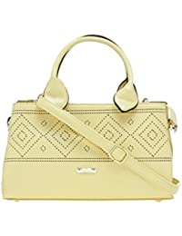 ESBEDA Yellow Solid Pu Synthetic Material Arm Handbag For Women's