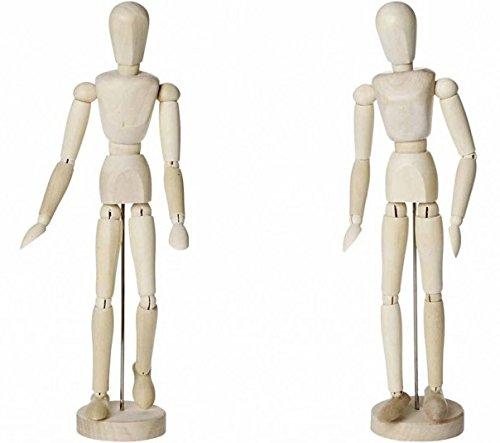 artdee Modellpuppe / Gliederpuppe männlich & weiblich, 30 cm , aus Holz