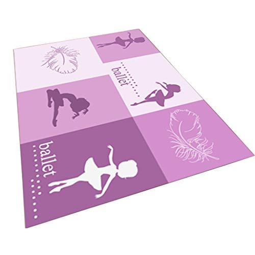 Teppich Schlafzimmer Hause Kinder voller Shop süßes Bett Prinzessin Mädchen Jungen Kind Zimmer Boden Matte Maschine waschbar Teppiche (Color : Purple, Size : 140 * 200cm)