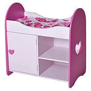 knorrtoys 67403 puppenbett mit schrank heart. Black Bedroom Furniture Sets. Home Design Ideas