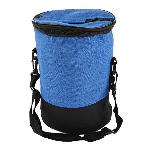SM SunniMix Faltbar Picknicktasche Thermo Kühltasche Lunchtasche Mittagessen Tasche Thermotasche Isoliertasche mit Reißverschluss und Schultergurt - Blau, 26 x 18 mm